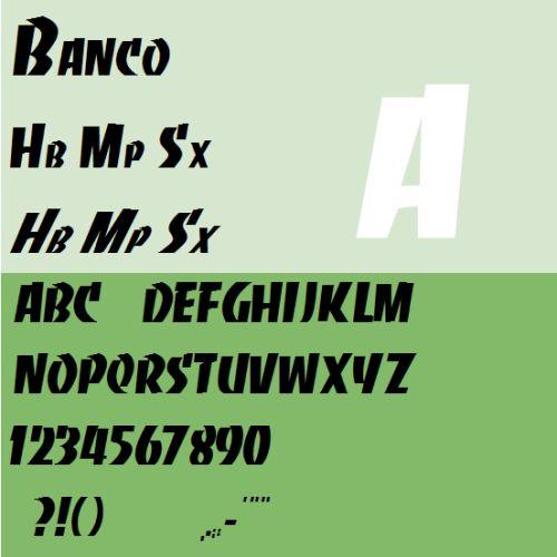 Roger Excoffon Banco