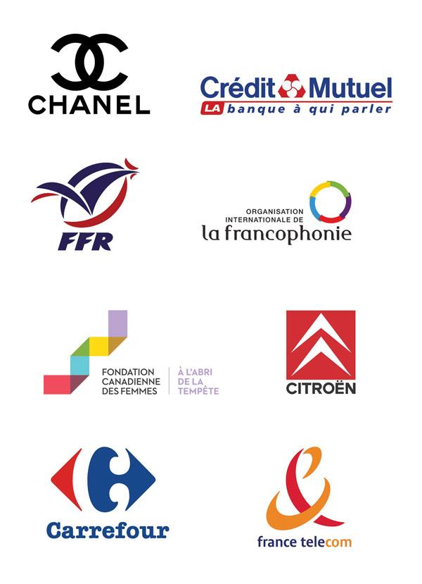 Exercice logo tangram - liste logos France