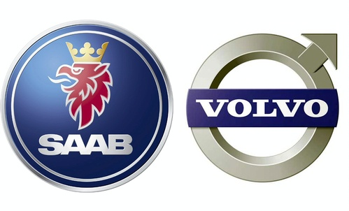 logos Saab et Volvo