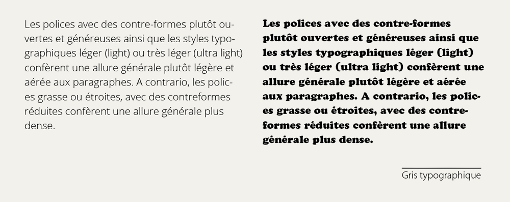 gris typographique