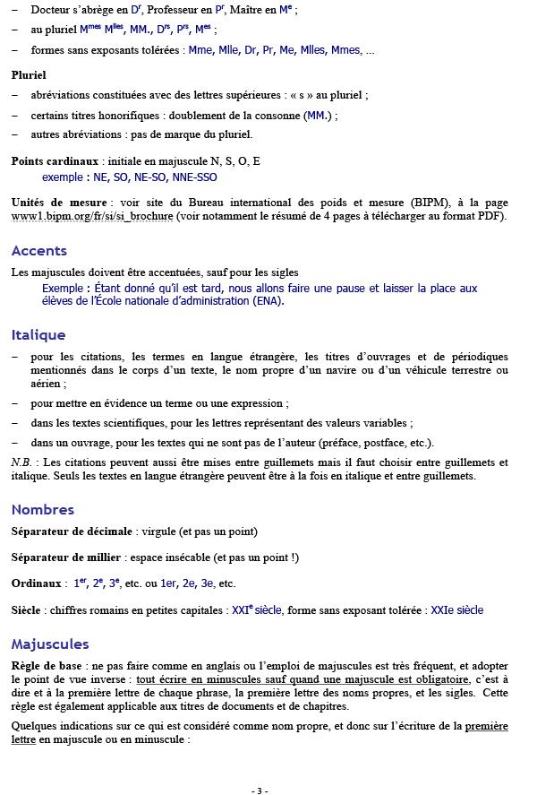 Règles typographiques de base p3