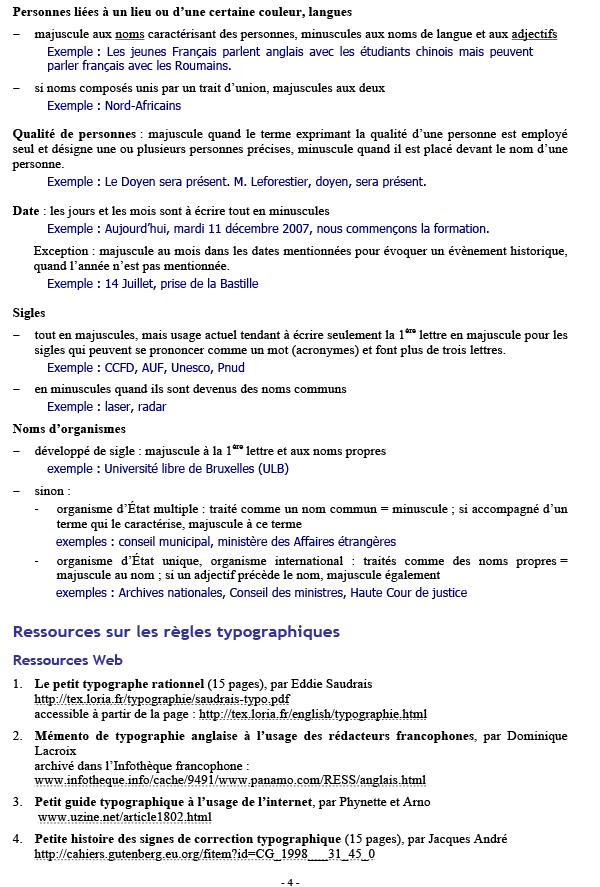 Règles typographiques de base p4