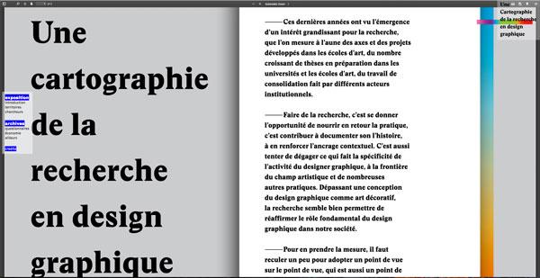 Une cartographie de la recherche en design graphique